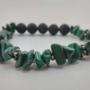Buy Malachite Bracelet | Heart Chakra Jewelry | Boho | Green Reiki Malachite Healing Crystal
